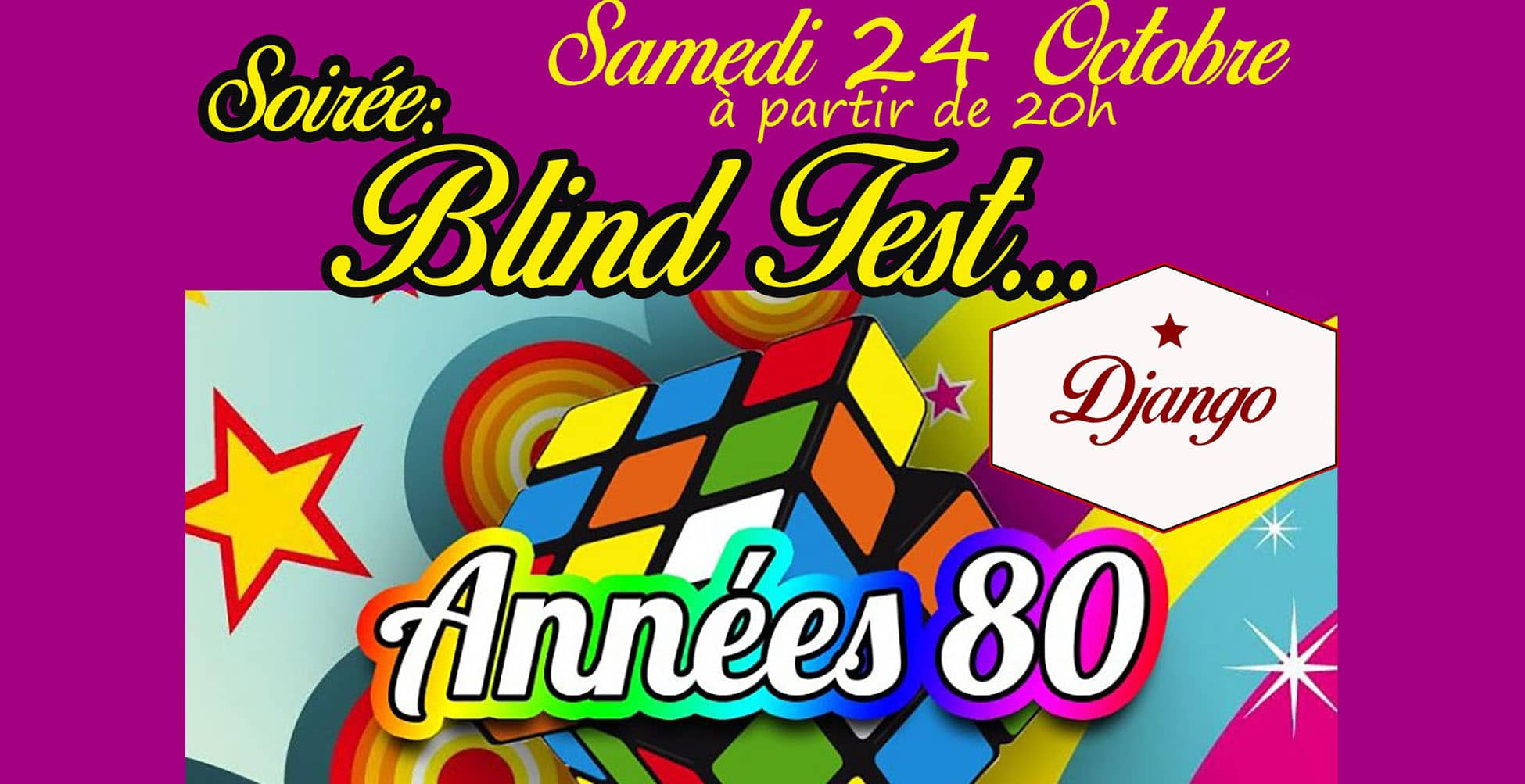 Soiree BLIND TEST ANNEES 80′