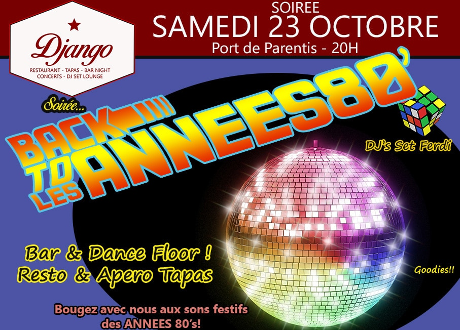 SOIREE «Back to LES ANNEES 80′ «